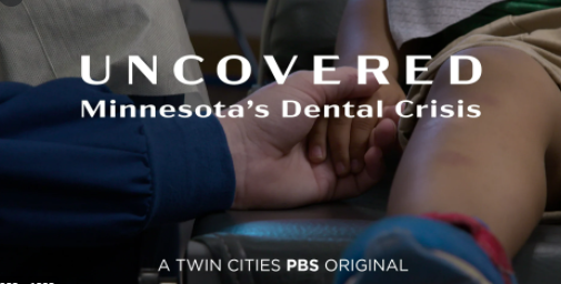 Screen capture of documentary title Uncovered: Minnesota's Dental Crisis