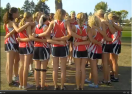 Mankato West girls cross country team