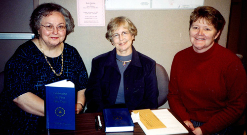 Mary Huntley, Edna Thayer, and Linda Beer